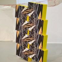 """""""Tower"""", photographies, bois, peinture, 2017"""