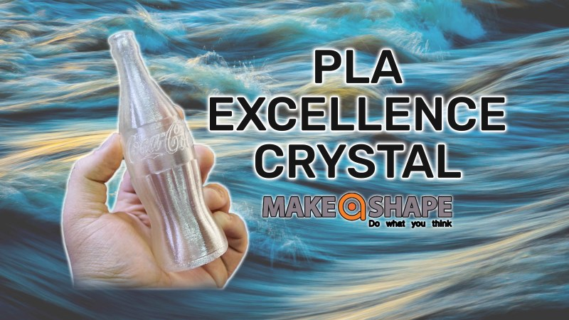 Filamento trasparente! PLA Crystal by Make a Shape