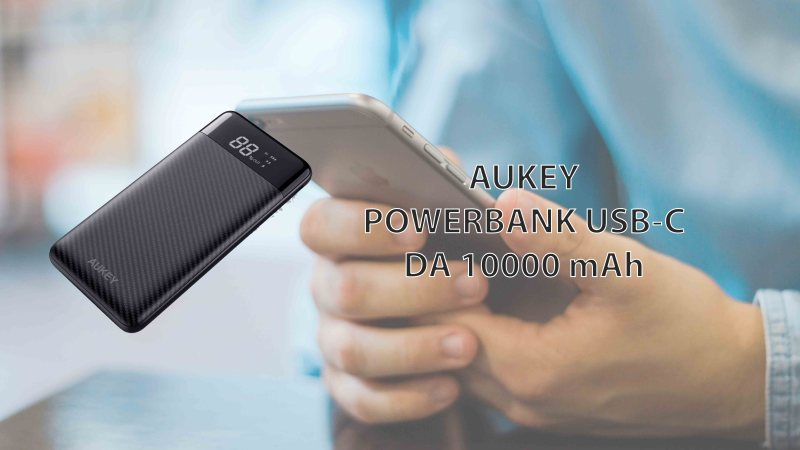AUKEY Powerbank da 10000mAh con Display LCD