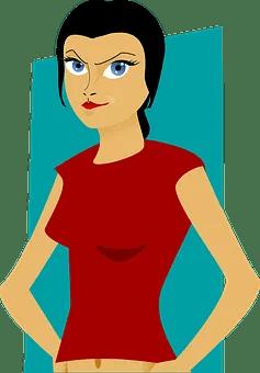 vignetta di donna che applica la dieta barf