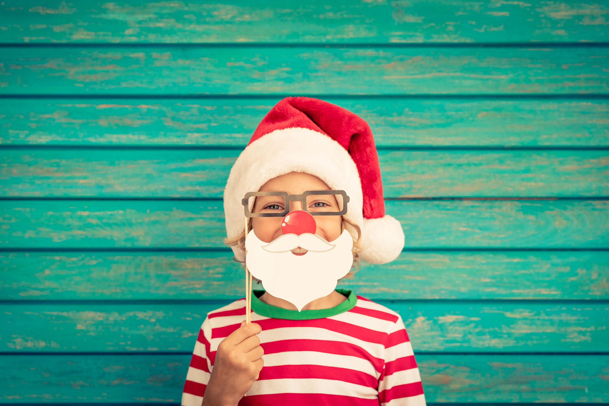 Funny kid on Christmas eve