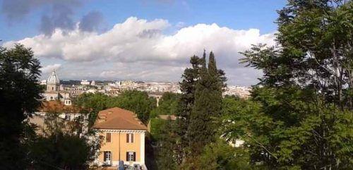 Vista de Roma desde la Plaza Garibald