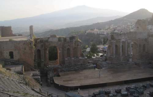 Teatro romano Antico, Taormina, Sicilia