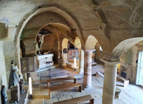 Olleros de Pisuerga, iglesia rupestre mozárabe
