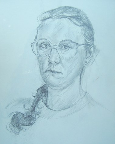 drawing-self-portrait-with-braid