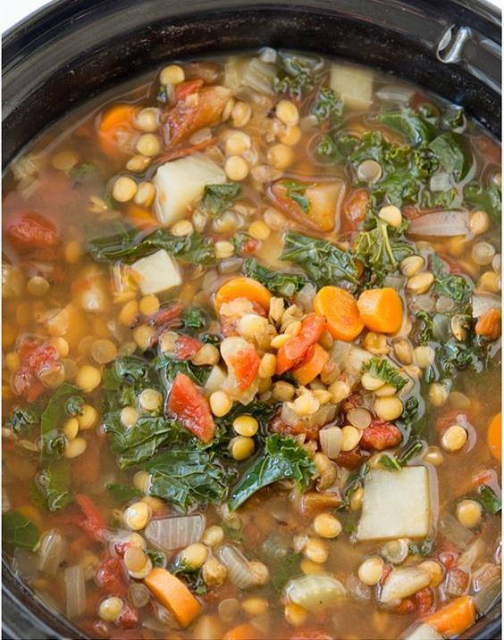 Crock Pot Vegetable Lentil Soup-2