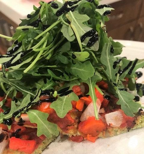Pizza with Broccoli Crust