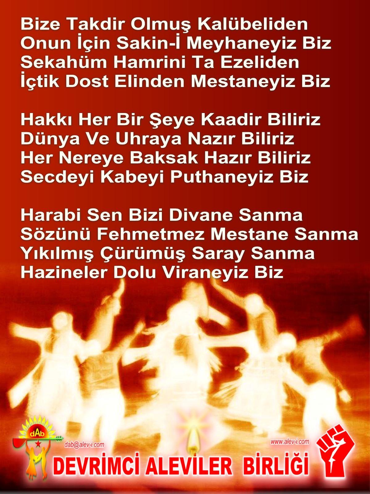 Alevi Bektaşi Kızılbaş Pir Sultan Devrimci Aleviler Birliği DAB Harabi