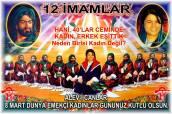 12 Hz imam Ali divani Alevi bektasi kizilbas pir sultan cemevi cem semah devrimci aleviler birligi DAB Feramuz Sah Acar 8 mart