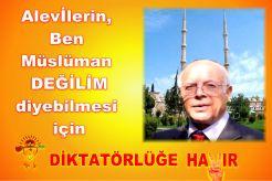 Devrimci Aleviler Birliği DAB Alevi Kızılbaş Bektaşi pir sultan cem hz Ali 12 imam semah Feramuz Şah Acar 20 hayir alevi müslüman degil