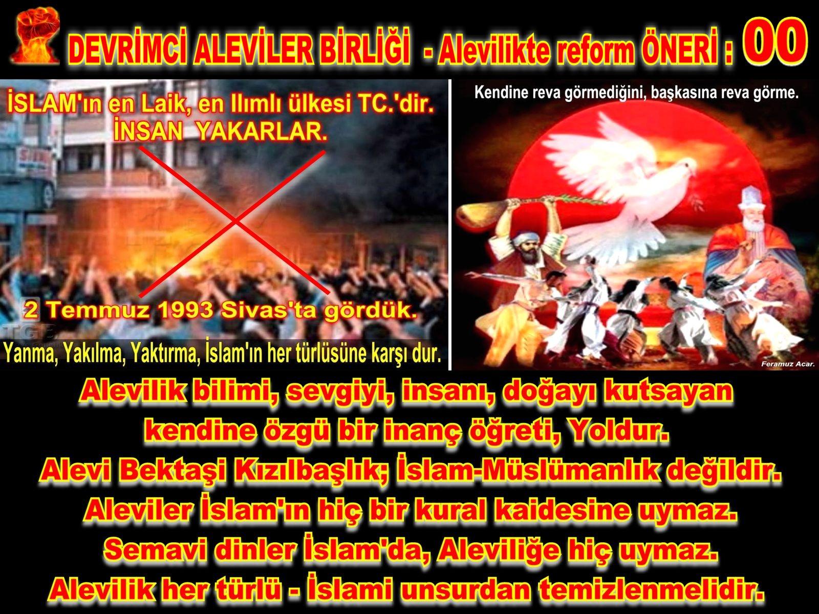 Devrimci Aleviler Birliği DAB Alevi Kızılbaş Bektaşi pir sultan cem hz Ali 12 imam semah Feramuz Şah Acar REFOM oneri0