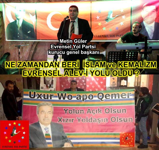 Devrimci Aleviler Birliği DAB Alevi Kızılbaş Bektaşi pir sultan cem hz Ali 12 imam semah Feramuz Şah Acar eyp ne zaman islam kemalizim alevi yolu oldu