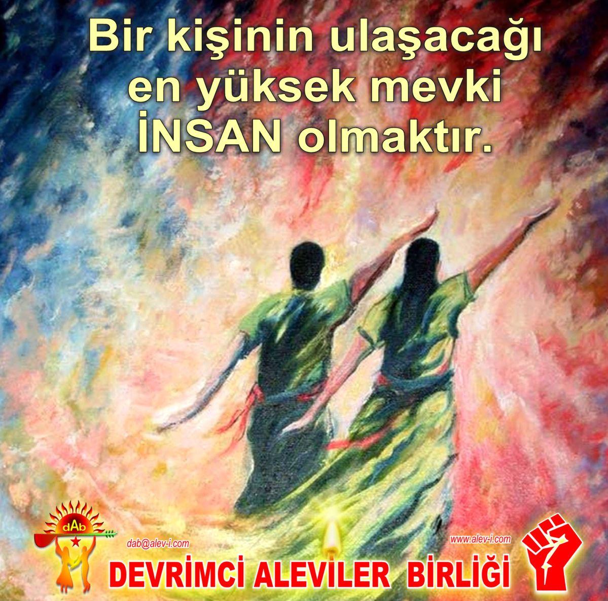 Devrimci Aleviler Birliği DAB Alevi Kızılbaş Bektaşi pir sultan cem hz Ali 12 imam semah Feramuz Şah Acar insan olmak2
