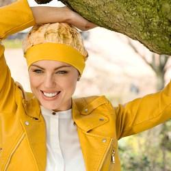 Clara Yellow Flower turban argazki