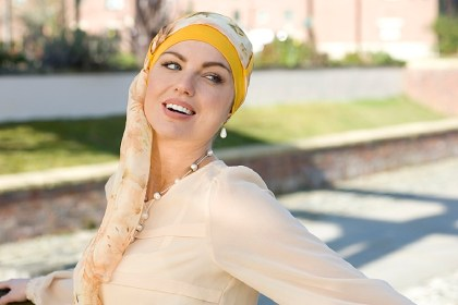 Yanna Yellow Sunflower turban argazki