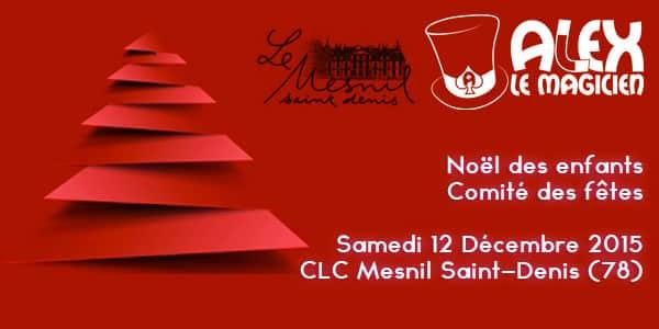 Spectacle Noël des enfants mesnil saint-denis