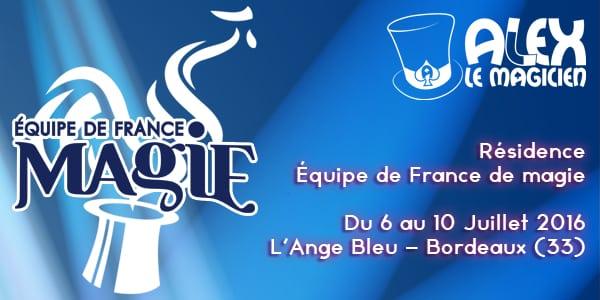 ange bleu cabaret magie bordeaux résidence équipe de france de magie