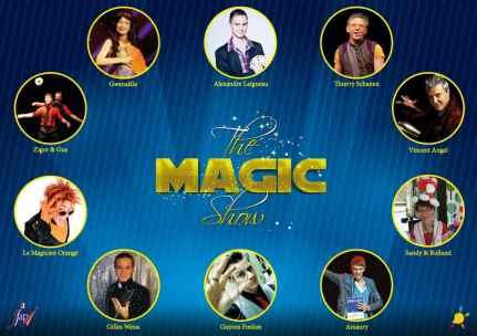 The Magic Show Téléthon 2013 Gilles Weiss, Guyom Foulon, Amaury, Sandy & Rolland, Vincent Angel, Thierry Schanen, Gwenaelle, Zigor & Gus, Le magicien orange, Alexandre Laigneau