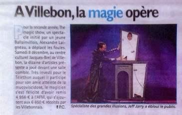 Le Republicain - la magie a operee - Telethon
