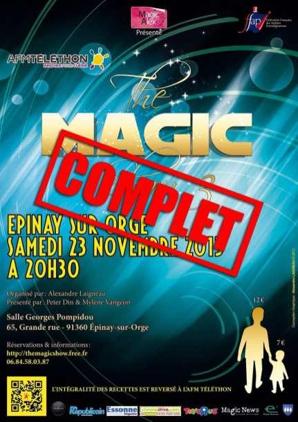 affiche The Magic Show 2013 Téléthon épinay sur orge complet