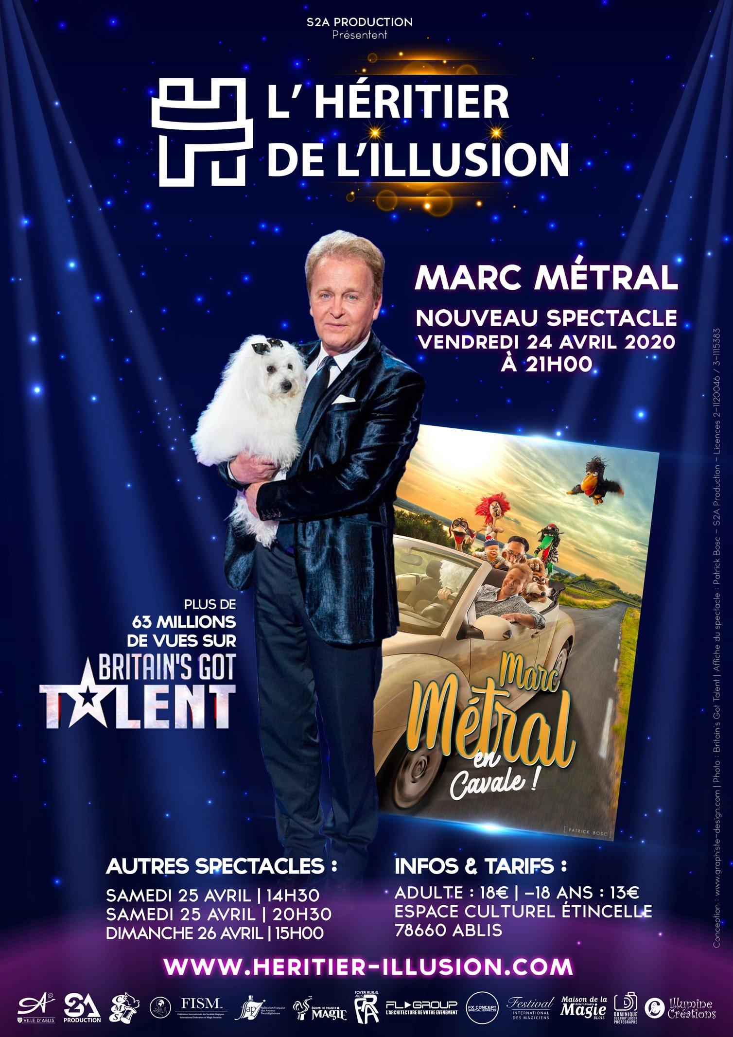 affiche Marc Metral en cavale Ventriloque