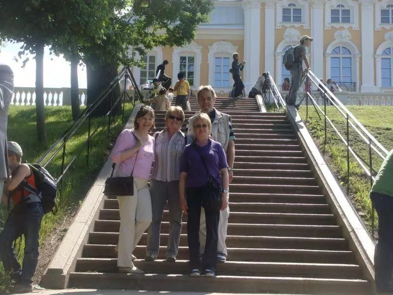 Reisegruppe in Peterhof