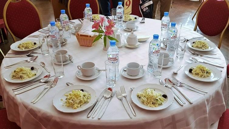 Mittagessen im Restaurant