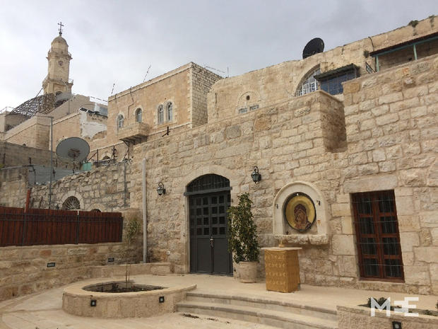 The courtyard of the Icon School in Bethlehem's Old City (MEE/Alex Shams)