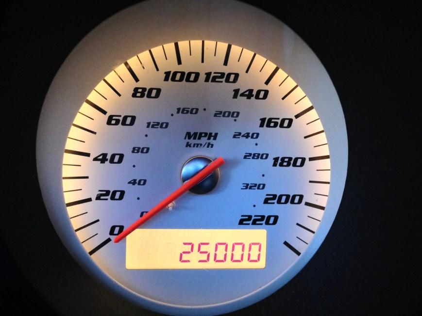 25,000 Miles