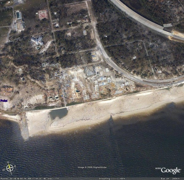 Google Earth - Katrina Damage Satellite View [Thumbnail]