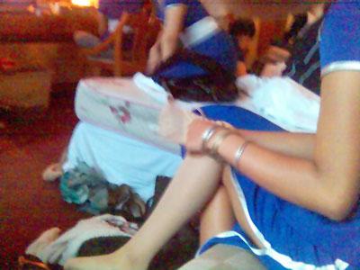 make-up session models jakarta blue