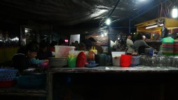 night food stall in Berastagi