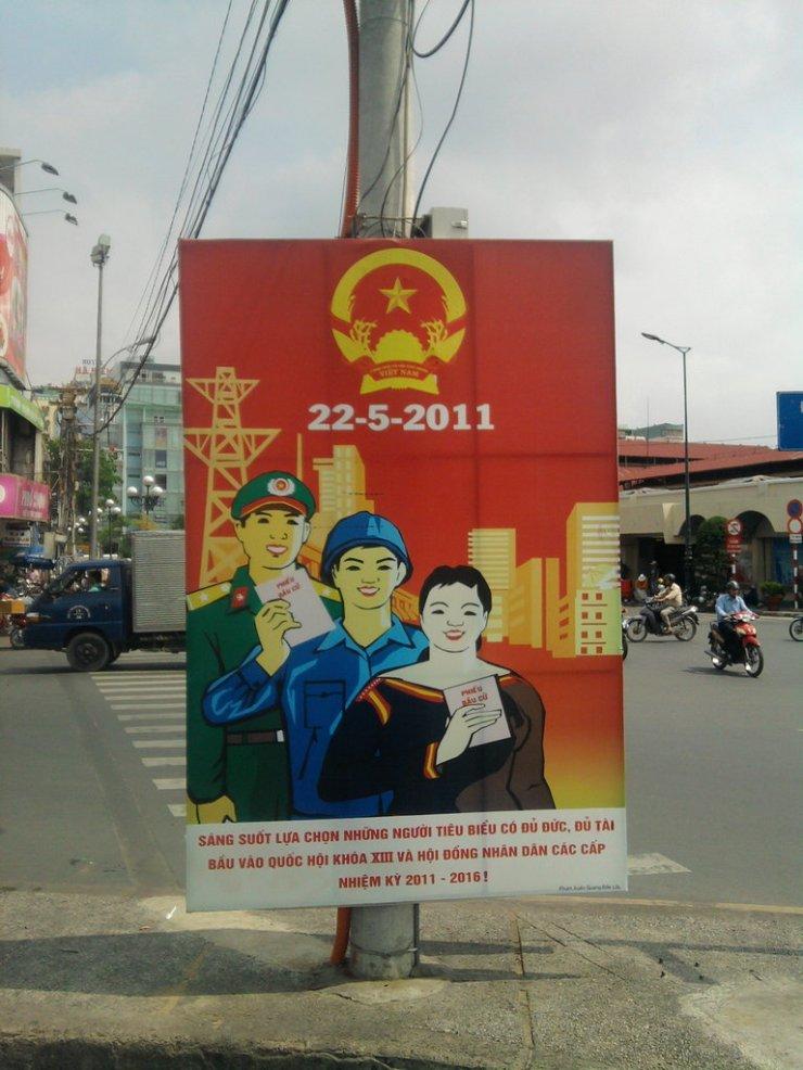 saigon vietnam street propaganda posters