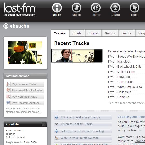 Last.fm Screenshot