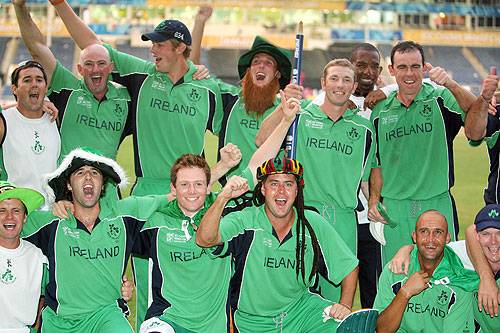 Victorious Irish team