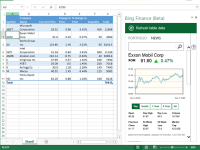 Bing Finance (Beta) for Microsoft Office 365
