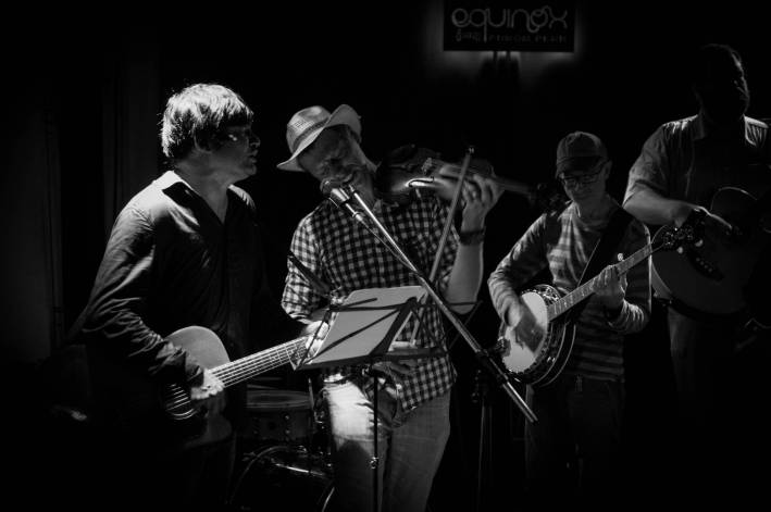 Daniel and Conrad playing with the Hank Williams tribute at Equinox - Photo by Alex Leonard