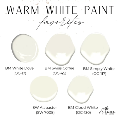 5 of the Best Warm White Paint Colors