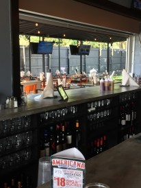 Indoor/Outdoor dining at the Bearded Pig