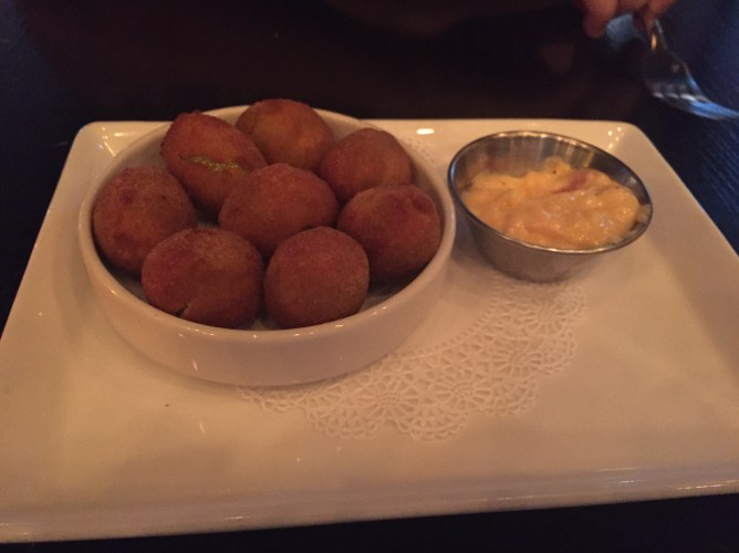 Black Sheep's Fried Green Olives with Pimento Cheese Appetizer