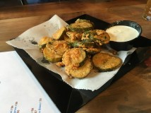 Wicked Barley's Fried Pickles with Roasted Jalapeno Ranch