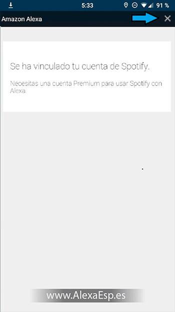 Cómo configurar y utilizar Spotify, Deezer o Apple Music en Alexa (Amazon Echo) paso 8