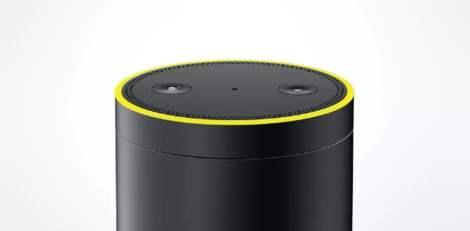 Luz amarilla anillo Amazon Echo