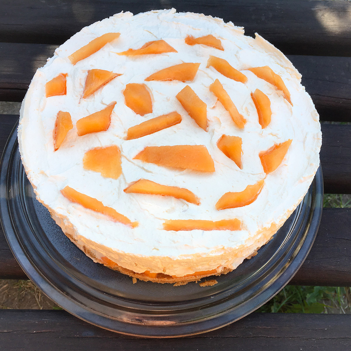 Sárgadinnyetorta sütés nélkül