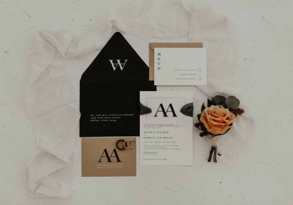 Stationary by Lane Love Paper Co - Modern styled shoot at The Emerson with Madeline Shea Photography and Alexa Kay Events | Dallas DFW Wedding Planner
