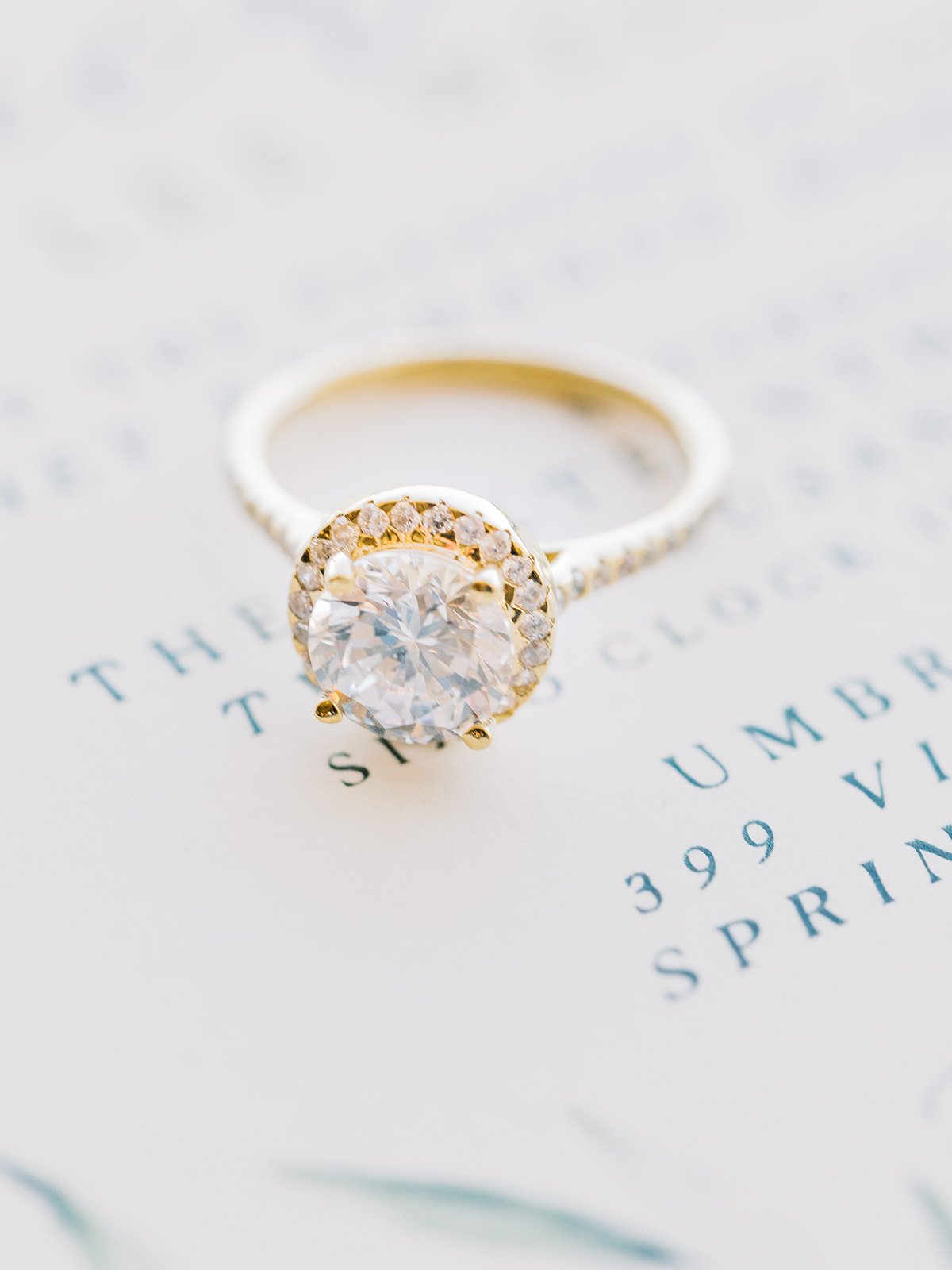 Engagement ring: Elopement vineyard wedding at Umbra Winery by Alexa Kay Events. See more wedding ideas at alexakayevents.com!