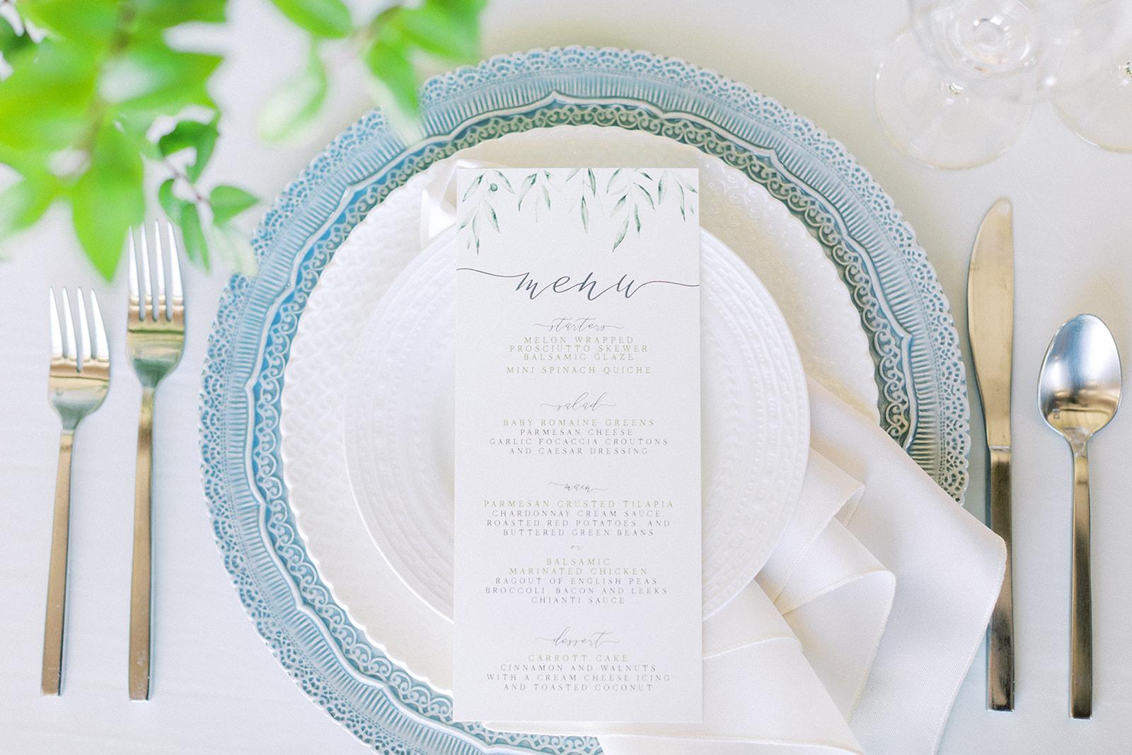 Wedding menu: Elopement vineyard wedding at Umbra Winery by Alexa Kay Events. See more wedding ideas at alexakayevents.com!