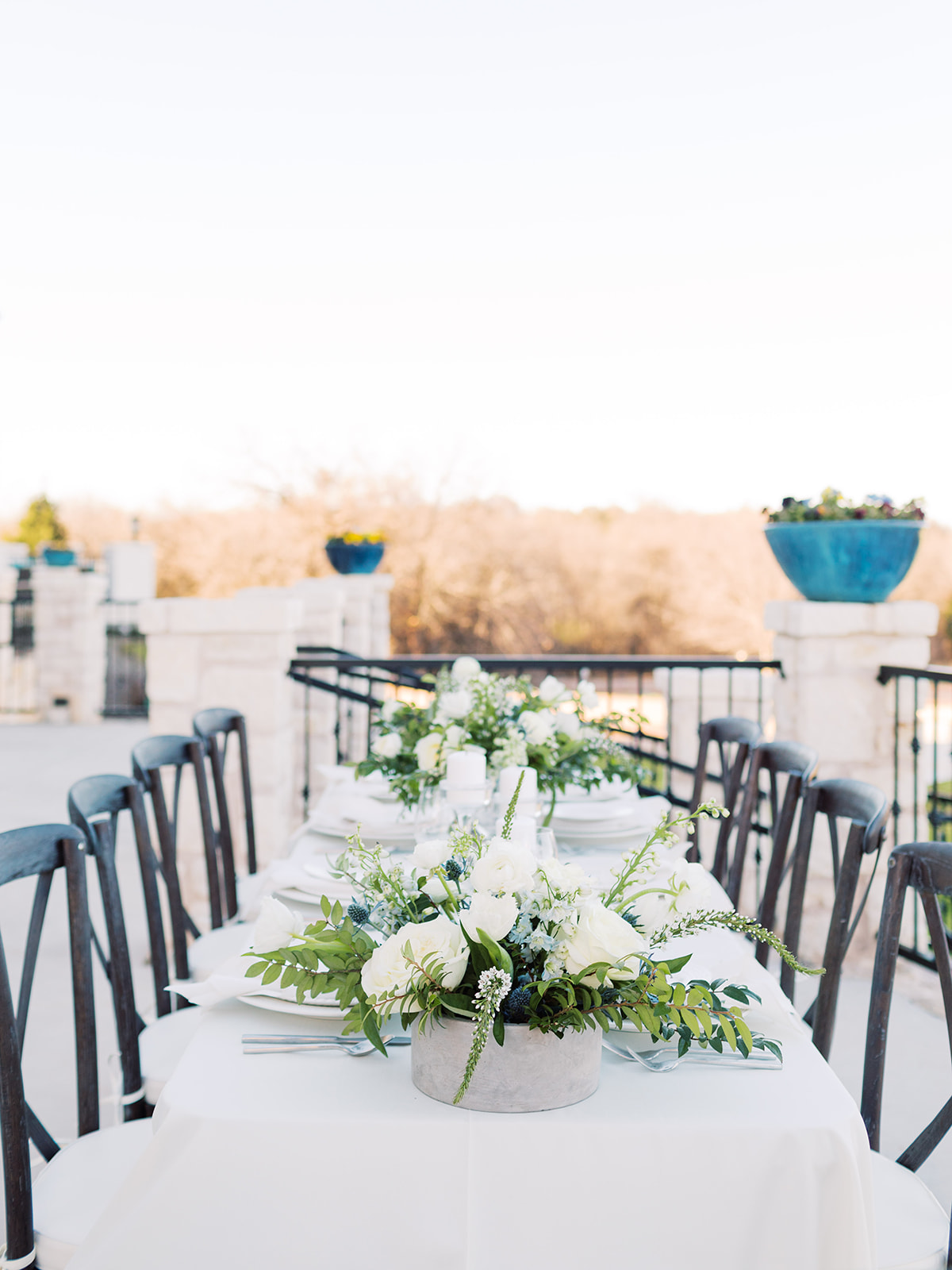 Outdoor wedding tablescape: Elopement vineyard wedding at Umbra Winery by Alexa Kay Events. See more wedding ideas at alexakayevents.com!