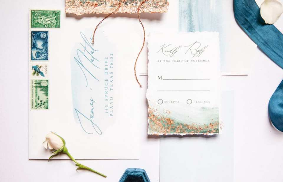 Get to know wedding stationery designer Brown Fox Creative on Alexa Kay Events. See more talented wedding vendor spotlights at alexakayevents.com!