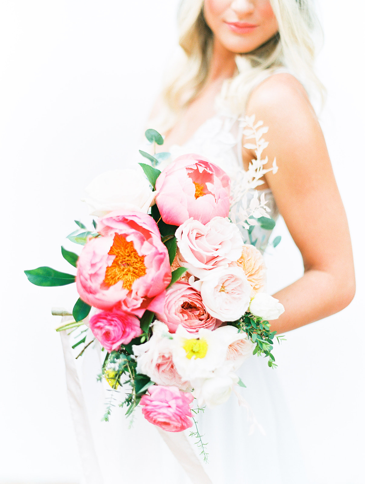 Tropical pink bridal bouquet: Beach Wedding Inspiration | Dominican Republic